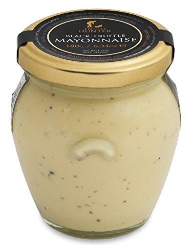 TruffleHunter Black Truffle (Tuber Aestivum) Mayonnaise (6.34 Oz) Free Range Eggs Gourmet Food Condiments Seasoning Garnish - Vegetarian Coeliacs Nut Free & Gluten Free