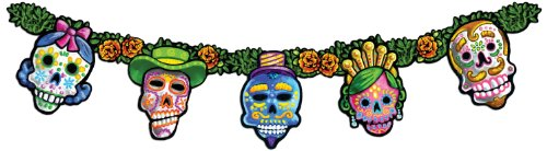 [Day Of The Dead Streamer Party Accessory (1 count) (1/Pkg)] (Day Of The Dead Supplies)
