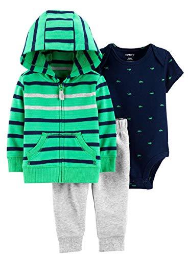 (Carter's Baby Boys' 3-Piece Little Jacket Sets (Green Multi, 6 Months))