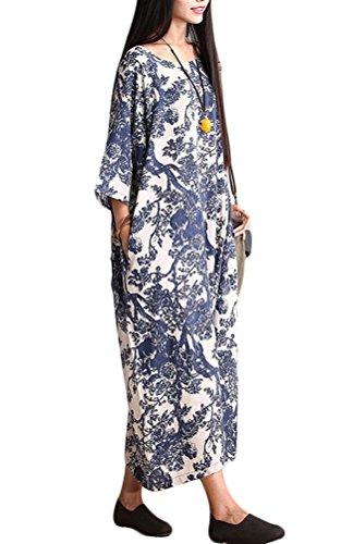 Vogstyle - Vestido - suéter - para mujer Style-1 Blue M