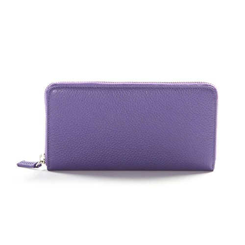 Zippered Continental Wallet - Full Grain Leather - Grape (purple) by Leatherology