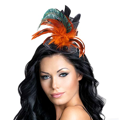 Fascinators Hats Feathers on Clip Tea Party Headwear (Mini Top) for Girls and Women