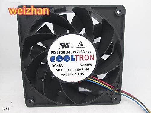 for FD1238B48W7-63-4JY 48V 62.40W 4-Wire high-end Small Plasma Cutting Machine Cooling Fan