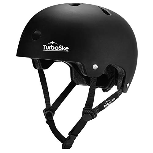 TurboSke Skateboard Helmet, Cycling Helmet, Scooter Helmet for Kids, Youth, Men, Women, Adult