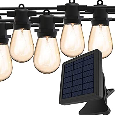 Magictec Solar String Lights, LED S14 Solar String Light Outdoor Waterproof Lighting Decoration Energy Saving Hanging Decor for Garden, Balcony, Porch, Backyard or Camp Tent 27 ft