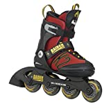 K2 Skate Boy's Raider Pro Inline Skates (Red / Yellow, 11-2)