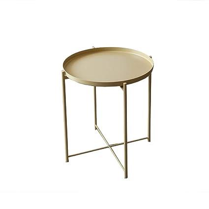 Full Metal Side Table Wrought Iron Tea Table Four Legged Table