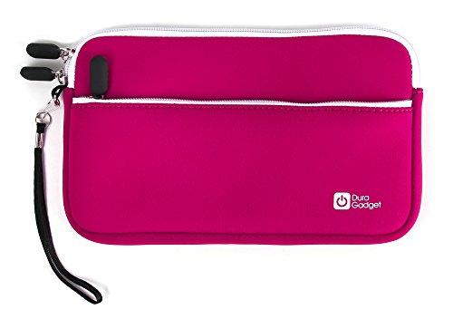 Tasche | Etui | Case | Schutzhülle in ROSA mit Handschlaufe und Außenfach, wasserabweisendes Neopren-Material, für Texas Instruments TI-Nspire, TI-89 Titanium, TI-84 Plus und TI-84 Plus Silver Edition grafische Taschenrechner