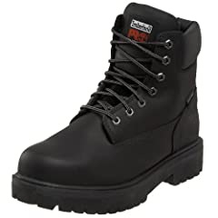 This durable leather boot features 200 g of insulation for warmth; an oil-resistant, non-marking rubber lug outsole for traction; and seam-sealed waterproof leather uppers.Modeled from Timberland's classic style work boot, the Direct Attach h...