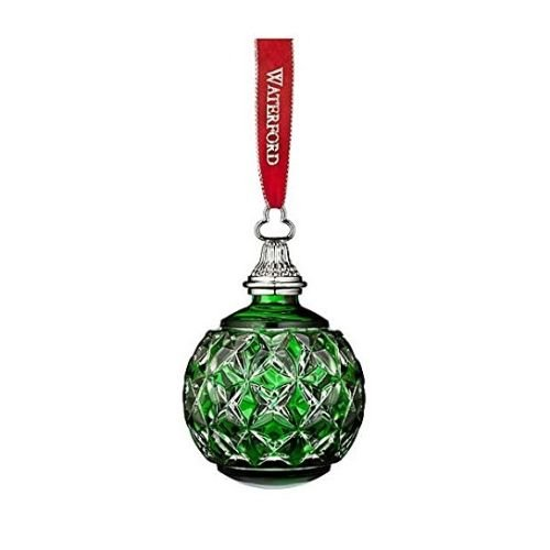 Waterford The Green Cased Ball Ornament