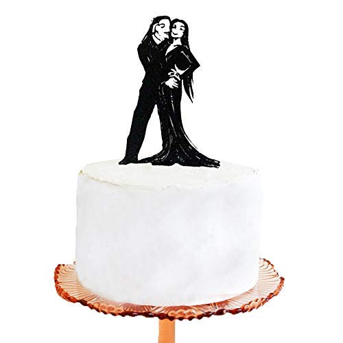 Wedding Cake Topper Halloween Wedding Cake Topper Addams Family Morticia and Gomez Silhouette Cake -