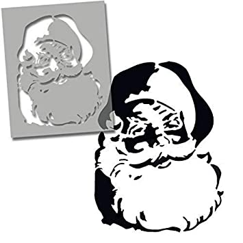 Santa Face Stencil Shop Display Window Decorations Stencils Art Craft Reusable