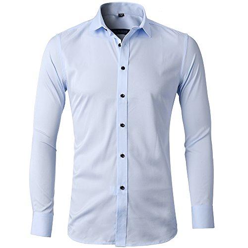 Solid Button Down Dress Shirt - 5