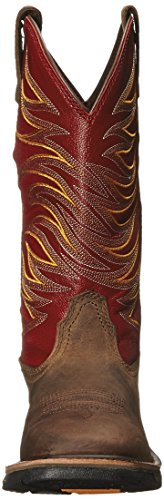Toe Distressed Brown Ruby Ariat II Workhog Toe Distressed Wide Men's Soft Square Tall Red Boot z7z8Aqgx
