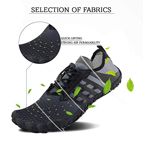 54d4e7e0f92eb8 ... FEIFAN Men Women Water Shoes Quick Dry Adult Beach Swim Barefoot  Lightweight Water Shoes Mixed Color ...
