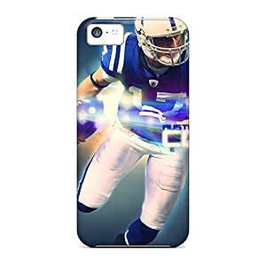 Anti-scratch And Shatterproof Indianapolis Colts Phone Cases For Iphone 5c/ High Quality Tpu Cases