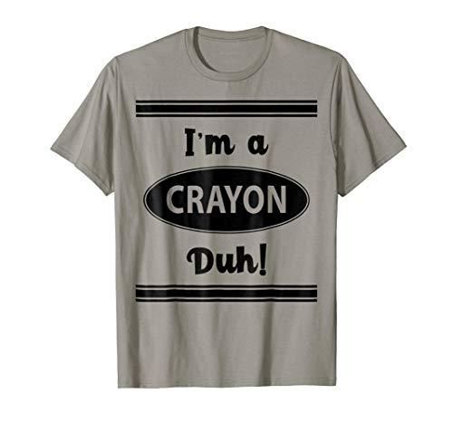 Crayon Costume Halloween Shirt - I'm A Crayon Duh! Funny -