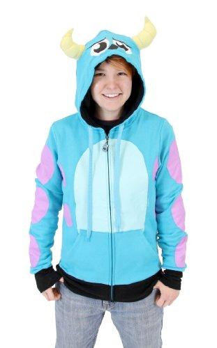 Sully Monsters Inc (Monsters University I Am Sully Juniors Zip Up Hoodie Sweatshirt (Juniors Medium))