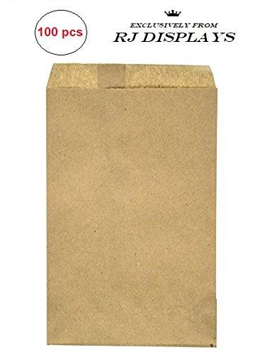 100 Pack Brown Kraft Paper Bags, 6