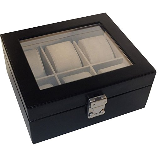 Royce Leather Aristo 6 Slot Watchbox (Black) by Royce Leather (Image #1)