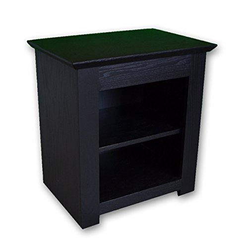 7. Secret Compartment Nightstand (Diversion Safe) with RFID Lock - Black Paint on Oak