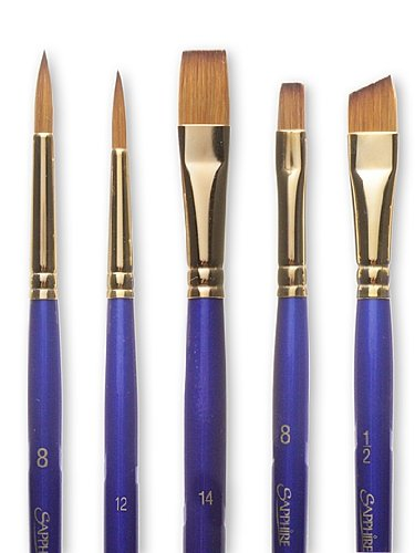 Robert Simmons Sapphire Series Synthetic Brushes Short Handle 8 shader S60