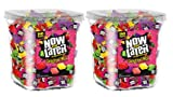 Now & Later Original Taffy Chews Candy, Assorted, 150 Count Chews, 90 Ounce Jar (Pack of 2)