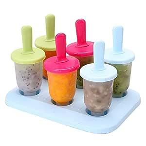 Compra Leegoal Moldes de plástico sin BPA para helado, juego de 6 ...