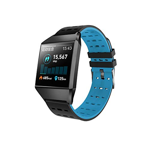 CZYCO Waterproof Smart Watch Sports Fitness Activity Heart Rate Tracker Blood Pressure Breathable strapWatch(Blue)
