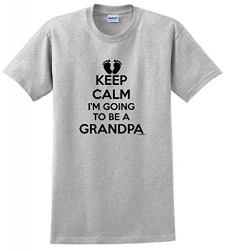 Pregnant Ash Grey T-shirt - Keep Calm I'm Going to Be a Grandpa T-Shirt 4XL Ash