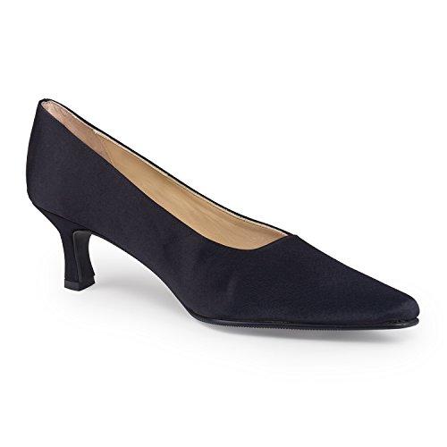 FARFALLA Satin Court Shoes (Black,7/40)