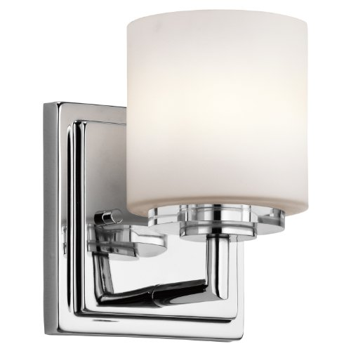 Classic Chrome Landscape Lighting - Kichler 45500CH O Hara Wall Sconce 1-Light Halogen, Chrome