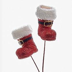 Kurt Adler 20 Inch Glitter Santa Boot Pick