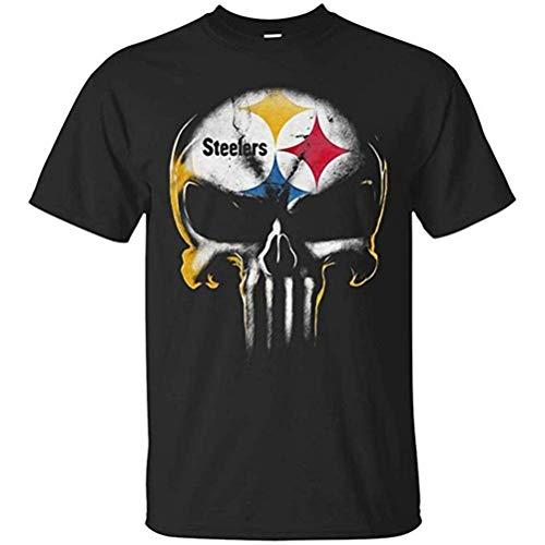 Herbert?W?Burns Skull Pittsburgh Steelers Shirt Men,Black,3X-Large