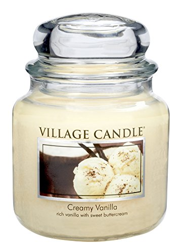 Village Candle Creamy Vanilla 16 oz Glass Jar Scented Candle, ()