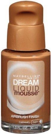 Maybelline Dream Liquid Mousse Airbrush Foundation, Caramel Dark [2] 1 oz (Pack of 2)