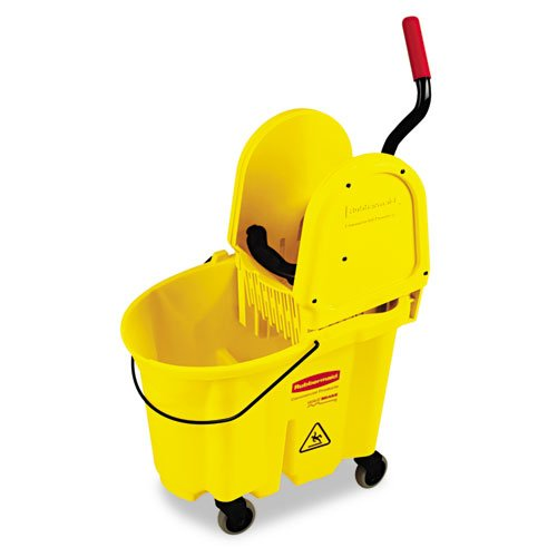 Rubbermaid Commercial Wavebrake 35-Quart Bucket/Wringer Combinations, Yellow - one utility bucket combo.