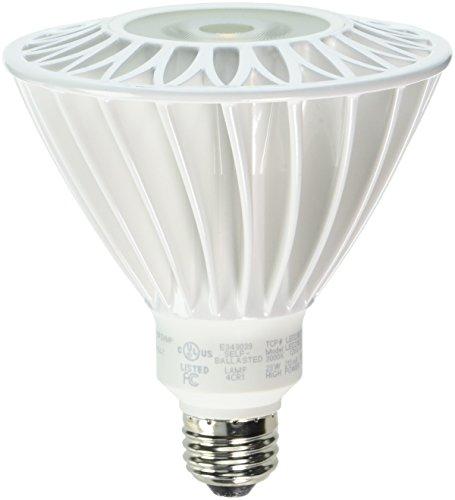 TCP LED23E26P3830KFLND LED PAR38 - 120 Watt Equivalent (23w) Bright White (3000K) Non Dimmable PAR Flood Light Bulb ()