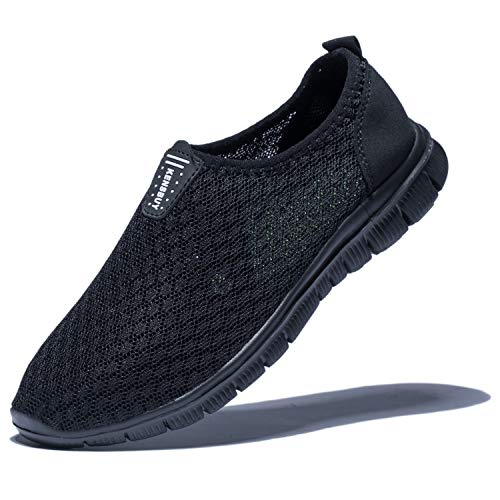 KENSBUY Mens Breathable and Durable Sports Running Shoes Lightweight Mesh Walking Sneakers (8 M US Men, Black/Black) by KENSBUY (Image #8)