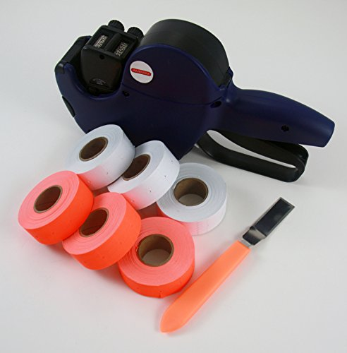 Amram 2 Line 8/6 Digits/Bands Pricemarker Pricing Marking Gun. Bonus Kit includes Labeler plus 4500 Labels (6 Rolls) and 1 Label Peeler. by AMRAM