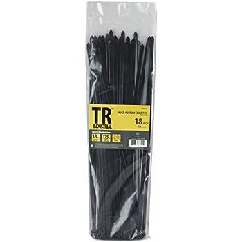 """TR Industrial TR88305 Multi-Purpose Cable Ties (50 Piece), 18"""", Black"""