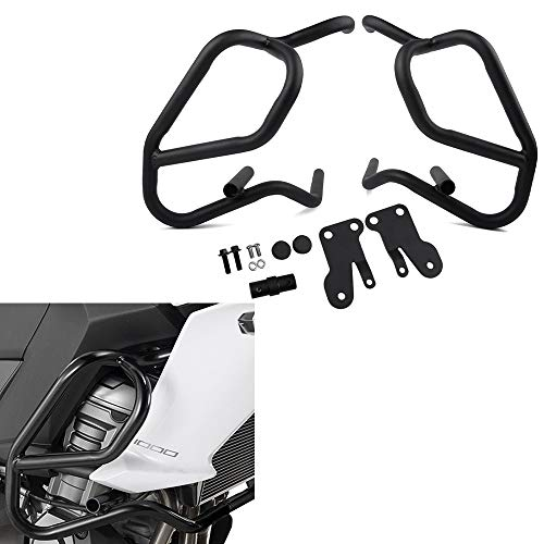 XX eCommerce Motorcycle Motorbike Black Engine Guard Highway Refit Tank Protection Crash Bar Frame Protector for 2015-2017 Kawasaki Versys 1000 Versys1000 2016 15 16 17