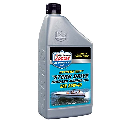 Lucas Oil 10677-6PK Marine Oil - 1 Quart, (Pack of 6) (Drive Stern Engine Oil)