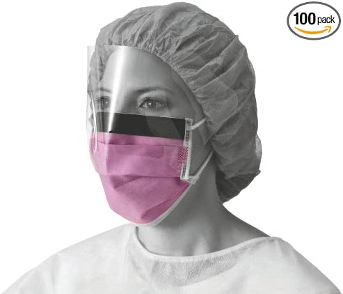 Surgical Masks Eyeshield com With Face Amazon Medline Non27410el