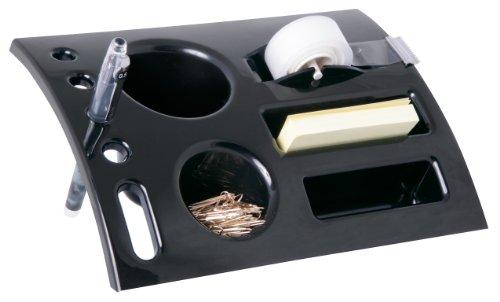 Kantek Angled Desktop Organizer, 4 x 8 x 5.75 Inches, Black (ORG460)