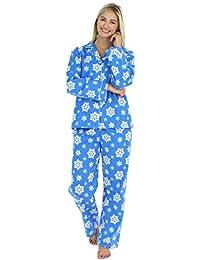 PajamaMania Women's Sleepwear Flannel Long Sleeve Pajamas PJ Set