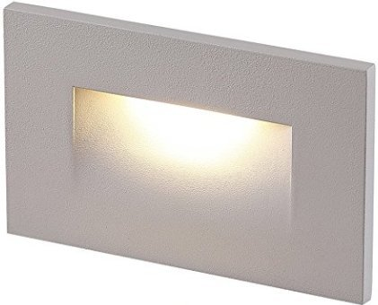 Cloudy Bay 120V LED Indoor Outdoor Step Light,3000K Warm White 3W 100lm,Stair Light,White Finish by Cloudy Bay (Image #1)