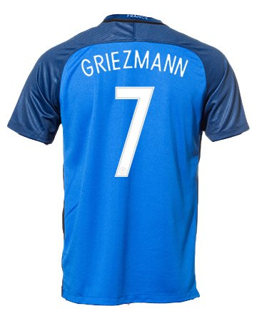 #7 Antoine Griezmann France Home Soccer Jersey Euro 2016 Cup + get Mr. Sport box as a GIFT (Small) (Soccer Jersey France)