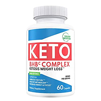 Keto Diet Pills - Best Rapid Weight Loss Supplements with Beta-Hydroxybutyrate (BHB) Pure Exogenous Ketones Salts for Ketosis & Burning Fat Boosting - Women and Men - 60 Capsules 800mg.