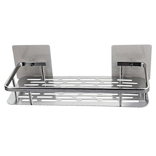 Amazon.com: eDealMax Metal casa cocina auto-adhesivo de la Copa cesta del almacenaje de agua de la suspensión Escurridor tono de Plata: Kitchen & Dining